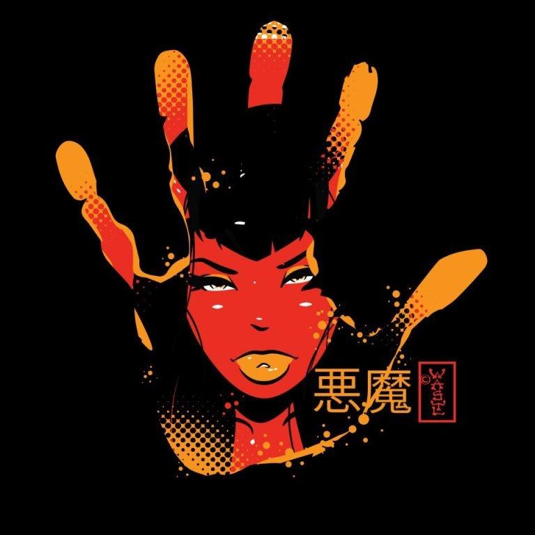 Devil Demon Girl Hand T-Shirt Graphic